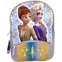 """Frozen 2 Elsa & Anna 16"""" Backpack with 1 Lower Front Pocket- FRBK"""