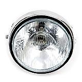 ヘッドライト ガラスレンズ 180mm 汎用 メッキ 丸型 オートバイ バイク用
