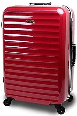 【SUCCESS サクセス】 スーツケース 3サイズ( 大型 ・ 中型 ・ 小型 )【TSAロック搭載 軽量フレーム グラード2015 ハイエンドモデル】 (中型67㎝ 4.3kg 62L, レッド)