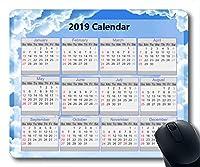 2019カレンダーマウスパッド、マウスマット、星空銀河ゲーム用マウスパッド