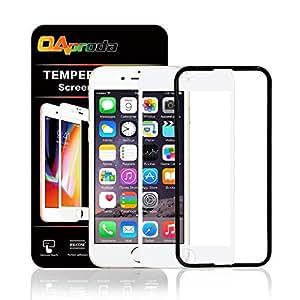OAproda iPhone8 / iPhone7 / iPhone6 / iPhone6s 全面保護ガラスフィルム 液晶強化フィルム【全面フルカバー/貼り付け簡単 / 3D Touch対応 / 硬度9H / 気泡防止/高透過率】【ガイド枠付き】ブラック(黒) 4.7inch