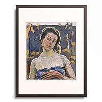 フェルディナント・ホドラー Ferdinand Hodler 「Portrait of Gertrud Muller in the garden, bust」 額装アート作品