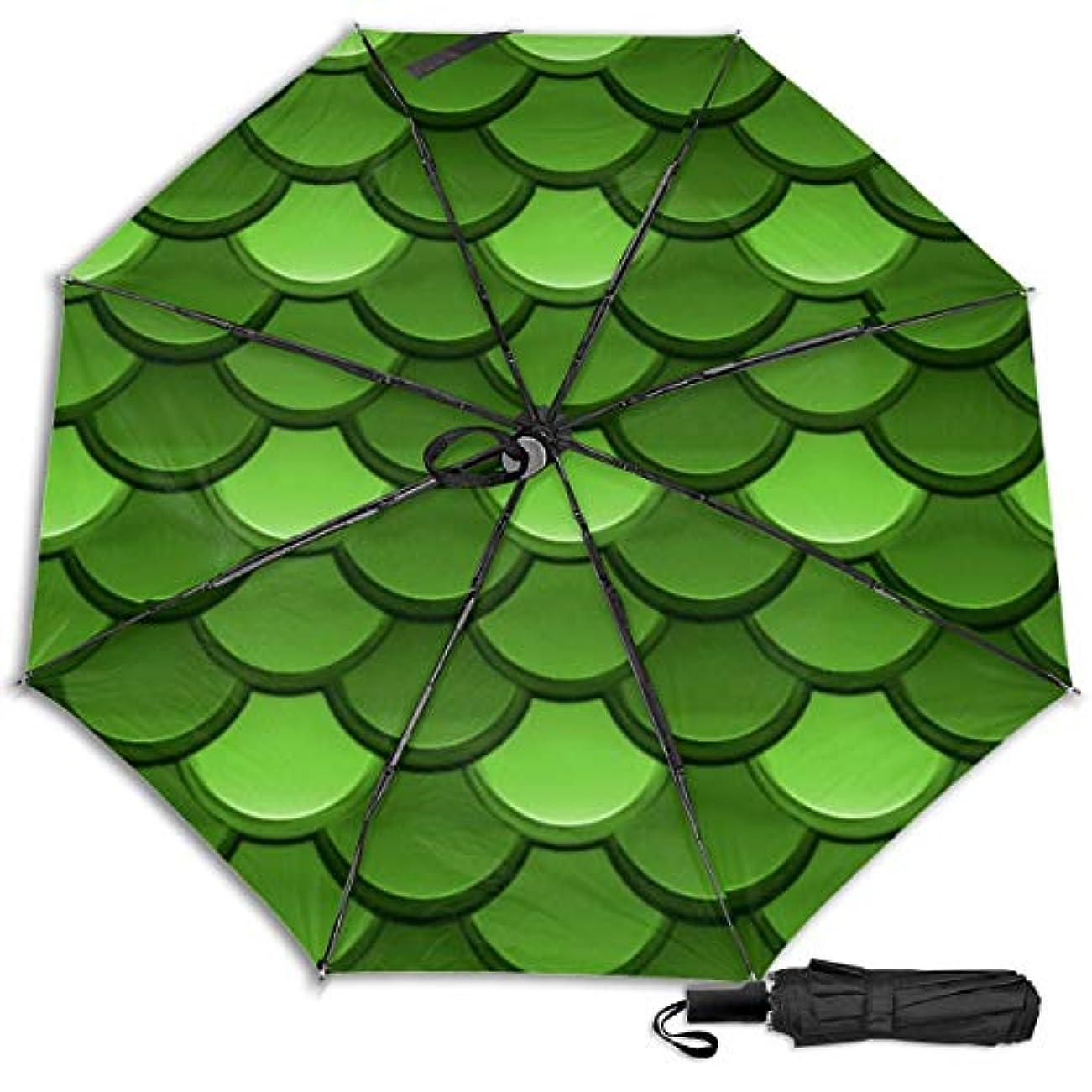 にぎやか共和党カウント緑の森のドラゴンの鱗日傘 折りたたみ日傘 折り畳み日傘 超軽量 遮光率100% UVカット率99.9% UPF50+ 紫外線対策 遮熱効果 晴雨兼用 携帯便利 耐風撥水 手動 男女兼用