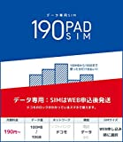b-mobile S 190PadSIM (ドコモ) (データ専用) (申込パッケージ) (月額190円〜)