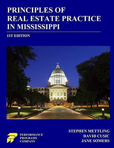 Download Principles of Real Estate Practice in Mississippi 0915777312