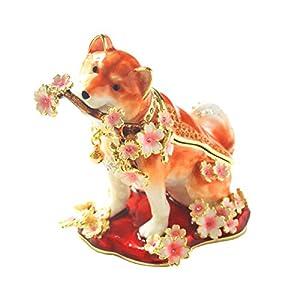 [ピィアース] PIEARTH ジュエリーボックス 桜犬(ブラウン) EX581-2