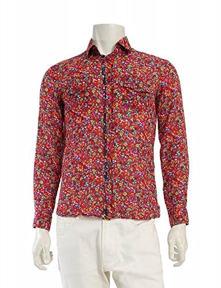 禁止する名門軍(ディーアンドジー) D&G シャツ カジュアルシャツ 花柄 赤 マルチカラー 中古