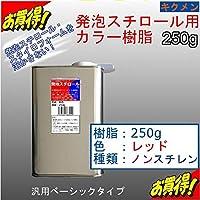キクメン FRP発泡スチロール用カラー樹脂250g【赤】汎用ベーシック