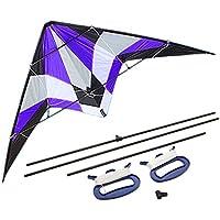 凧揚げ 凧 カイト 上昇簡単 おもちゃ 1.8m 外遊び アウトドア パープル