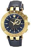 [ヴェルサーチ]VERSACE 腕時計 V-RACE GMT ALARM ネイビー文字盤 29G70D282S282 メンズ 【並行輸入品】