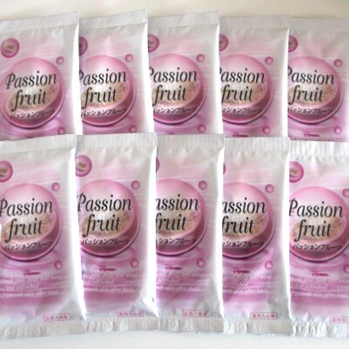 バクテリアトランペットくしゃくしゃトプラン入浴剤 パッションフルーツの香り 10包セット