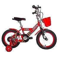 PJ 自転車 子供用自転車 トレーニングホイール付きの少年の自転車と少女の自転車 12インチ、14インチ、16インチ 子供用ギフト 子供と幼児に適しています ( 色 : 赤 , サイズ さいず : 16 inches )