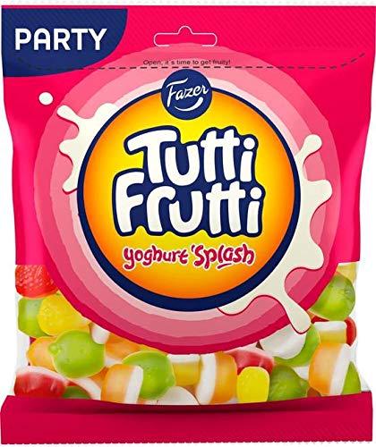 Fazer Tutti Fruttiトゥッティ フルッティ スプラッシュ ヨーグルト&フルーツ味 グミ 350g*12袋セット フィンランドのお菓子です [並行輸入品]