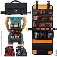 CamKix ロールアウトバッグ ウエスト/ショルダーストラップ付き GoPro Heroおよび他のアクション/コンパクトカメラ用 - 複数の持ち運びオプション(手 肩 ウエスト 背中) - スマートケースレイアウト - 調節可能なメインコンパートメント