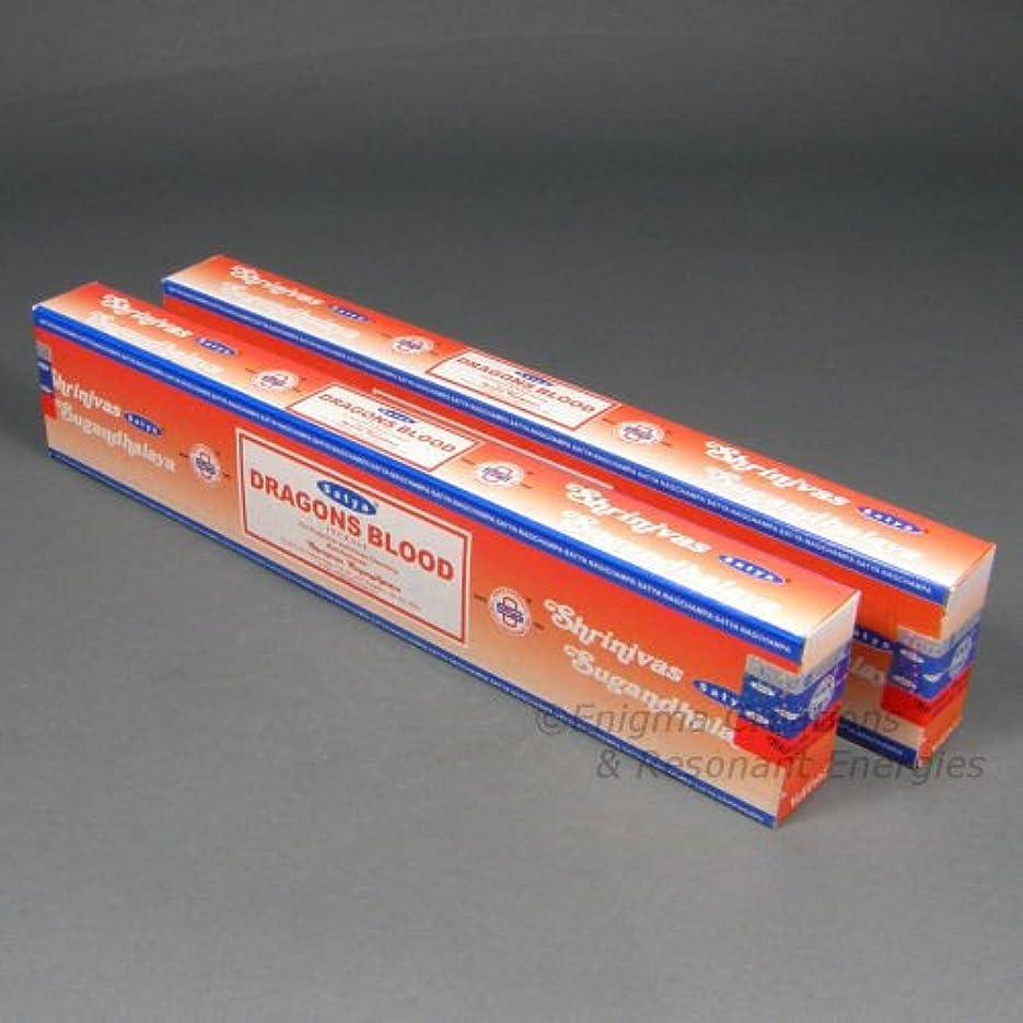 ダーベビルのテス口実偉業Satya Dragon 's Blood Incense Sticks, 2 x 15グラムボックス、合計30グラム – (in239 )