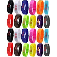 Pappi-Haunt Kids Favourite Sports Pack of 24 Unisex Digital Led Band Watches Quality assured gift items for kids Birthday Party Return Gifts
