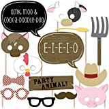 Farm Animals - Photo Booth Props Kit - 20 Count
