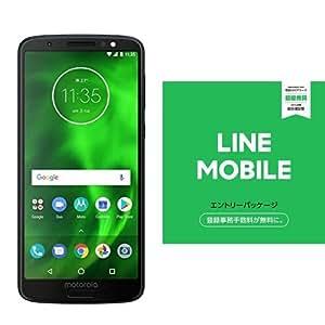 モトローラ SIM フリー スマートフォン Moto G6 3GB/32GB ディープインティゴ 国内正規代理店品 PAAG0028JP/A & LINEモバイル エントリーパッケージセット