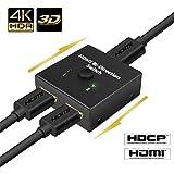 HDMI切替器 双方向セレクター 4K/3D/1080p対応 1入力2出力/2入力1出力 手動切り替え 電源不要 HDTV DVD DVR Xbox PS3 PS4 など対応