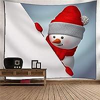 KTYXDE クリスマス雪だるまタペストリー壁掛け壁画テレビの背景壁3Dデジタル印刷ポリエステルアート壁の装飾家ぶら下げ布寝室リビングルームタペストリー壁マウントピクニック毛布 タペストリー (Color : 024)