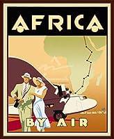 ポスター ジェームス・B・セトリングス Africa by Air 額装品 ウッドベーシックフレーム(ブラウン)