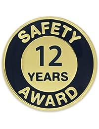 Pinmartのゴールドとネイビー12年の安全性Awardエナメルラペルピン 100