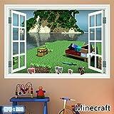 ウォールステッカー Minecraft マインクラフト 壁紙シール  50cm*70cm