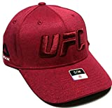 UFCリーボックRBK MMA DriスカーレットレッドロゴFighter 's Flex Fit Fitted HatキャップS / M