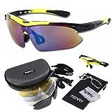 (フェリー) FERRY 偏光レンズ スポーツサングラス フルセット専用交換レンズ5枚 ユニセックス イエロー/ブラック