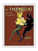 Thermog?ne - 熱と治療を生み出す:咳、リウマチ、側痛 - ビンテージな広告ポスター によって作成された リオネト・カピエロ c.1909 - アートポスター - 23cm x 31cm