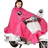 ミレー (ディフレコ) Difreco 《 雨の日 でも これで 快適 》 全身 すっぽり で 濡れない バイク 原付 自転車 用 ポンチョ レインコート (ピンク)