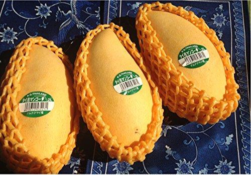 タイ産 マンゴー 2Lサイズ 1.2kg(3玉) ナムドクマイ種 コクのあるまろやかな甘みと適度な酸味 新鮮 タイ輸入