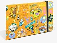 Nickelodeon レトロ 90年代 ニクトゥーン ポータブル トラベルポケット ハードカバー 付箋セット