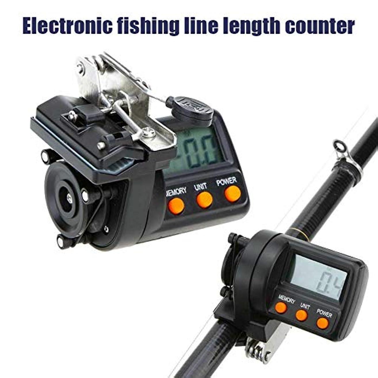 冷淡な鰐急いでAylincool   釣り糸カウンターデジタルクリップオン深さゲージLEDデジタルディスプレイ付き最大測定長999.9 M