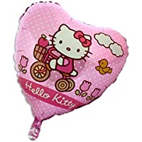 18インチHello Kitty Pink Heart Shaped Foil Balloon [おもちゃ]