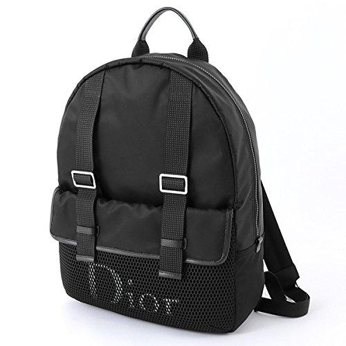 Dior Homme ディオールオム 1GRBA067 XXP ナイロン メッシュ バックパック リュック デイパック 手提げバッグ カラーH03E/ブラック メンズ [並行輸入品]