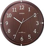 CITIZEN (シチズン) 電波掛け時計 シンプルモードアークF ブラウン半艶仕上げ 8MYA22-006