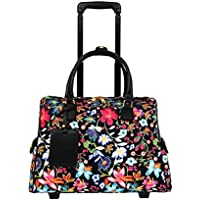 Mellow World Primerose Hb17335, Carry-on Rolling Laptop Tote Luggage, 21-inch, Black