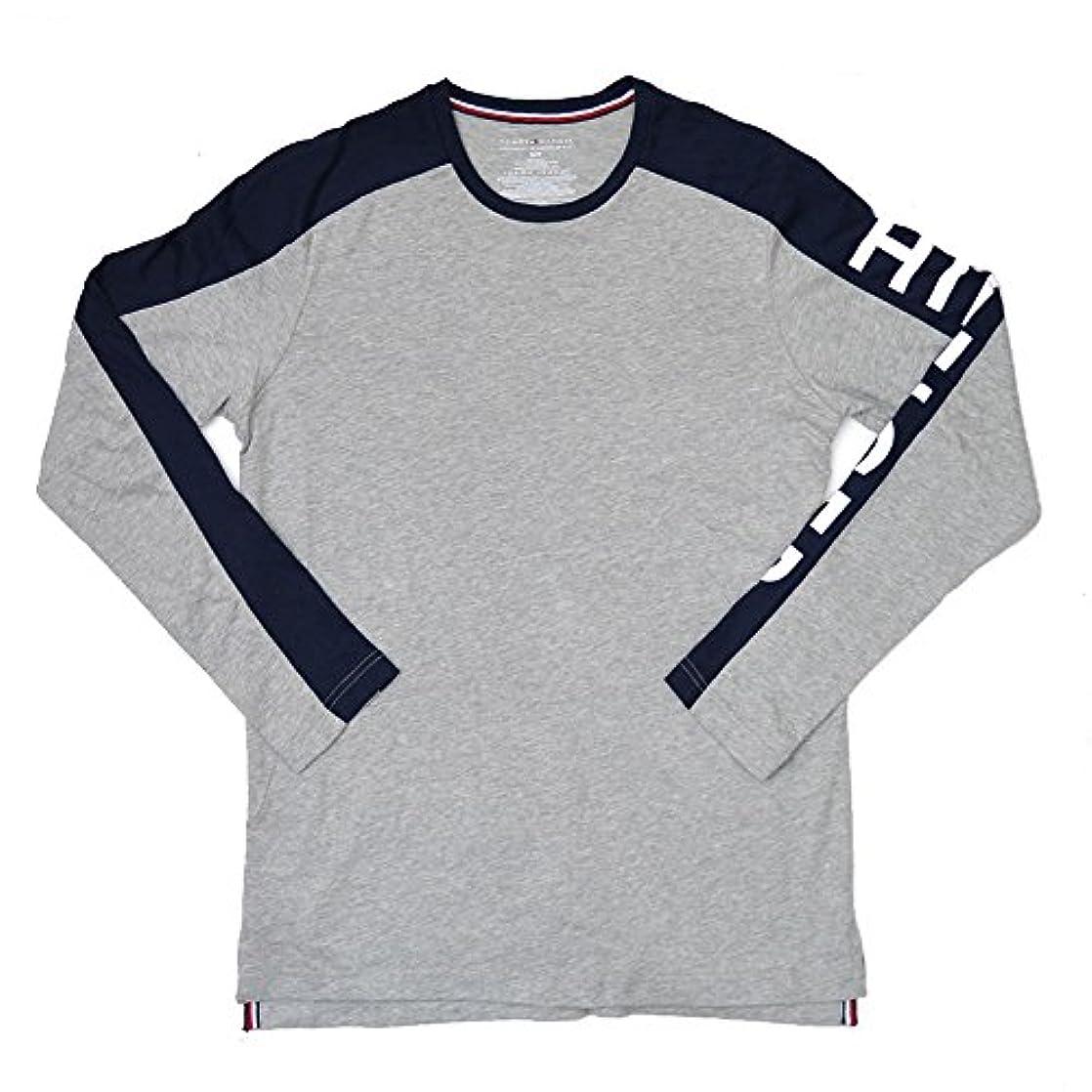 遠えごめんなさい笑(TOMMY HILFIGER) トミーヒルフィガー ロゴ ラグラン ロングTシャツ 09T3285 長袖 トップス プリント メンズ ロンT ラグランTシャツ [並行輸入品]