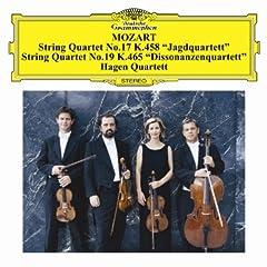 ハーゲンSQ演奏 モーツァルト:弦楽四重奏曲第17番「狩」&第19番「不協和音」の商品写真