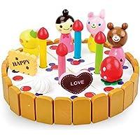 木製 おままごと ごっこ遊び ケーキ おもちゃ 知育玩具 赤ちゃん 子供 プレゼント (ホワイト)