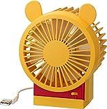 リズム時計 Disney ( ディズニー ) くまのプーさん キャラクター USB ファン 角度調節付 イエロー 9ZF008MC33