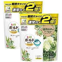 P&G ボールドジェルボール3D 癒しのパールボタニアの香りつめかえ用 超特大 1パック(30粒入) ×2