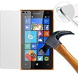 Lusee 強化ガラススクリーンプロテクター Microsoft Nokia Lumia 435 用 プレミアムスクリーンプロテクター 0.3mm クリアー2.5D