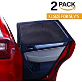 XL Universal Car Sun Shades Cover for Rear Side Window Provides Maximum UV Protection for Baby Children Kids and Dog. Best Quality Mesh Material-EXTRA LARGE SIZE