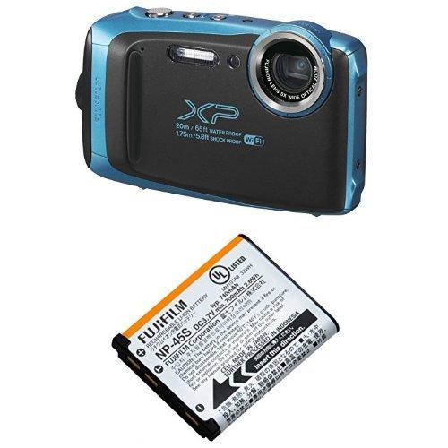 FUJIFILM デジタルカメラ XP130 スカイブルー 予備バッテリーセット
