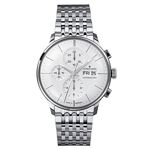 [ユンハンス]JUNGHANS 腕時計 マイスター クロノスコープ シルバーダイアル オートマチック メンズ [並行輸入品]
