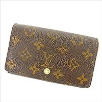 [ルイヴィトン] Louis Vuitton L字ファスナー財布 二つ折り財布 ポルトモネビエトレゾール M61730 モノグラム 中古 Y5722