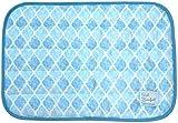 ダイカイ sommer かわいい 枕パッド 夏用 (涼感 冷感 抗菌 防臭 加工) タイル BL W50xH38