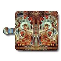 iPhone7 iPhone8 オディロン ルドン ステンドグラスの窓アレゴリー スマホケース 手帳型 全機種対応 ケース 人気 絵画 個性的 Galaxy